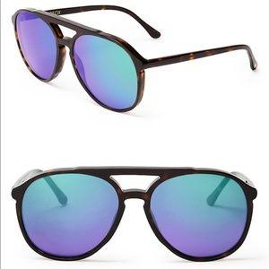 Wildfox Amelia Deluxe Mirrored Aviator Sunglasses
